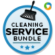 Cleaning Service Banner Bundle - 3 sets - GraphicRiver Item for Sale