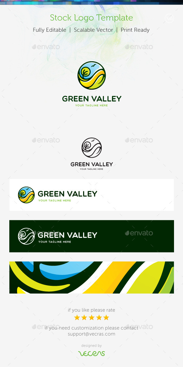 GraphicRiver Green Valley Stock Logo Template 8951600