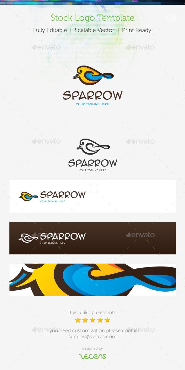 GraphicRiver Sparrow Stock Logo Template 8951603
