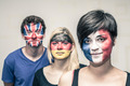 People with painted European flags on faces - PhotoDune Item for Sale