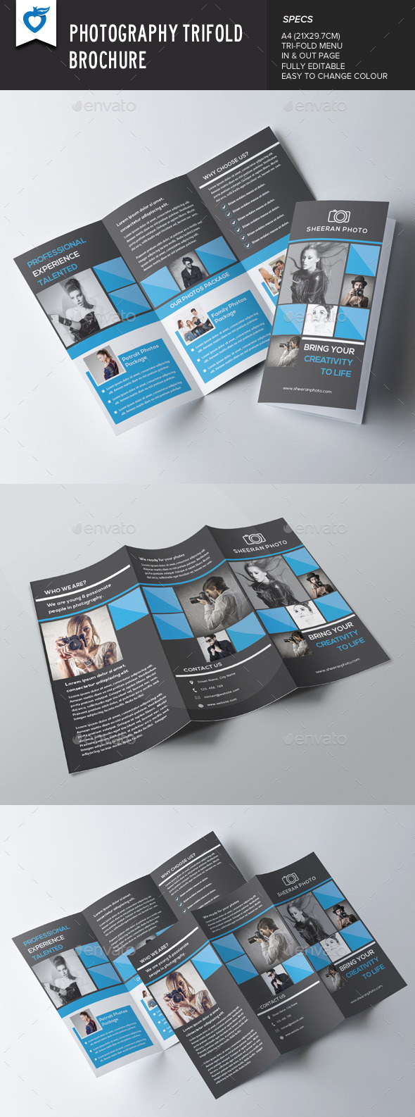 GraphicRiver Photography Trifold Brochure 8951653