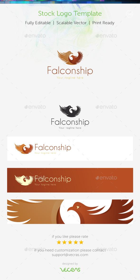 GraphicRiver Falconship Stock Logo Template 8951816