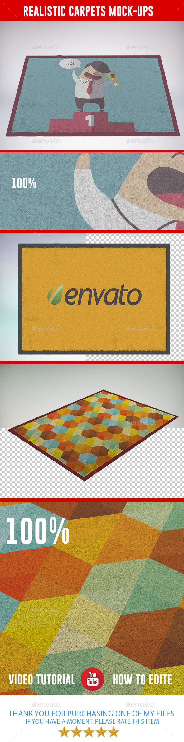 GraphicRiver Realistic Carpets Mock-ups 8951973