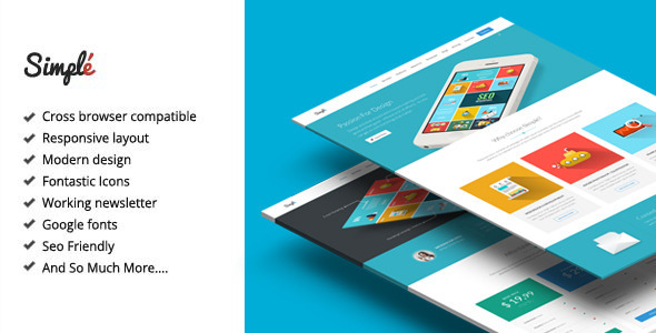 ThemeForest Simple Responsive Landing Page Template 8931163