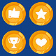 Vector Cartoon Gamification Badges - GraphicRiver Item for Sale