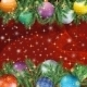 Christmas Background with Branches and Balls - GraphicRiver Item for Sale