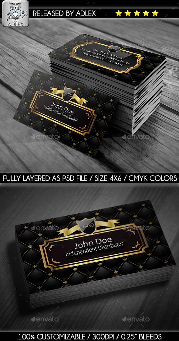 GraphicRiver Gold Business Card 8952565