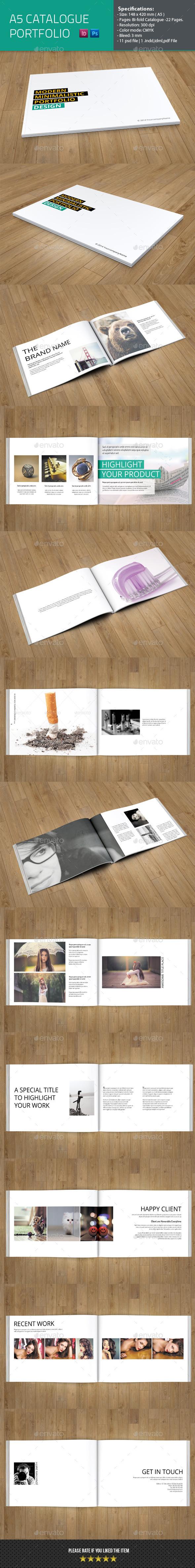 GraphicRiver Minimal Portfolio Catelog Template 8952627