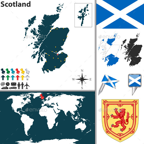 GraphicRiver Map of Scotland 8952865