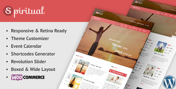 ThemeForest Spiritual Church WordPress Theme Responsive 8909366