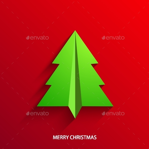 GraphicRiver Vector Concept Christmas Tree 8953029