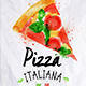 Pizza Watercolor Poster  - GraphicRiver Item for Sale