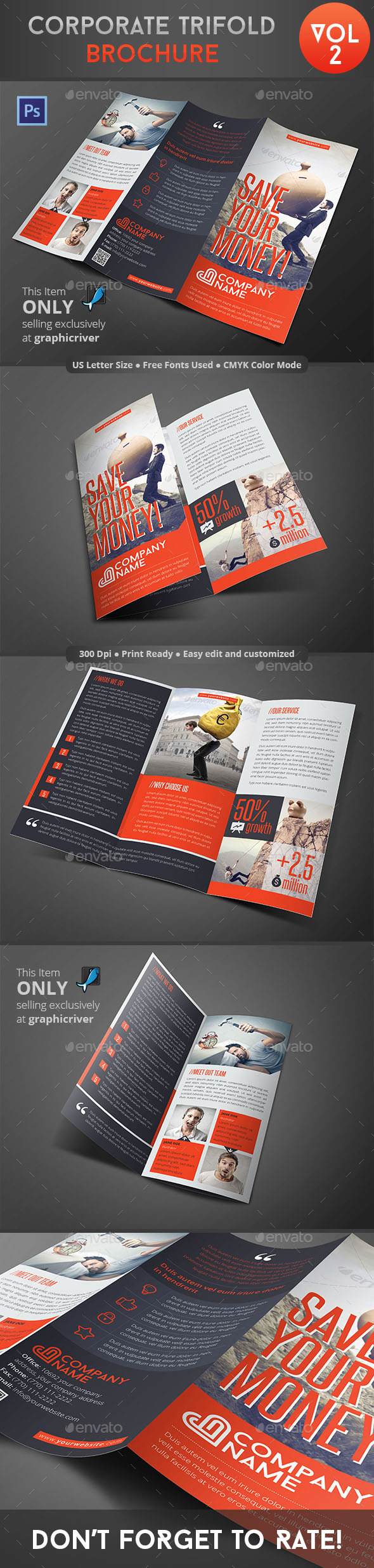 GraphicRiver Corporate Trifold Brochure Vol 2 8953109
