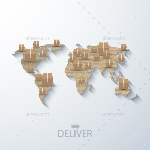 GraphicRiver Vector Modern Concept Delivery Background 8953152