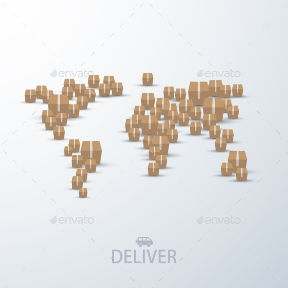 GraphicRiver Vector Modern Concept Delivery Background 8953156