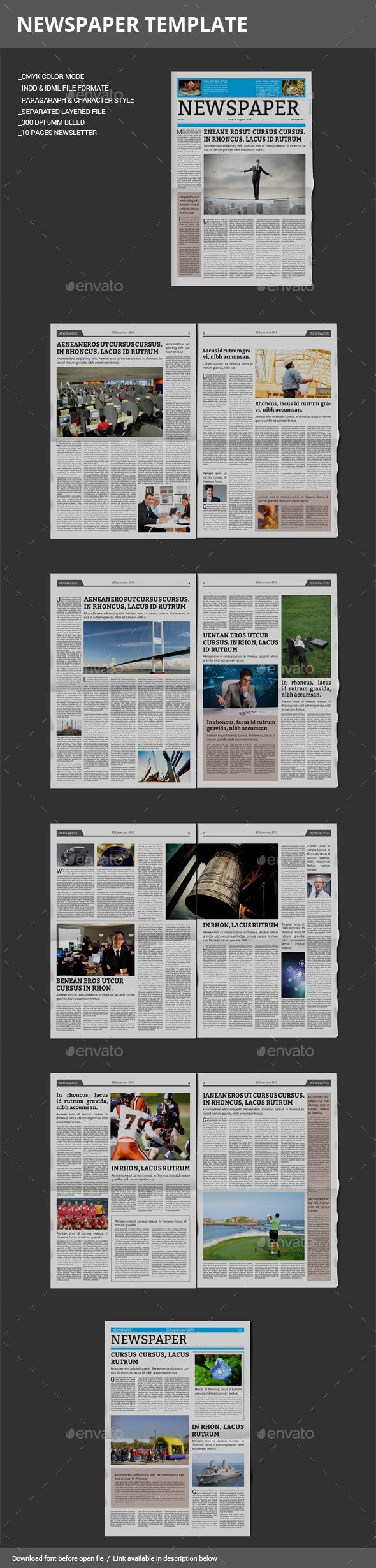 GraphicRiver Newspaper Template 8953179