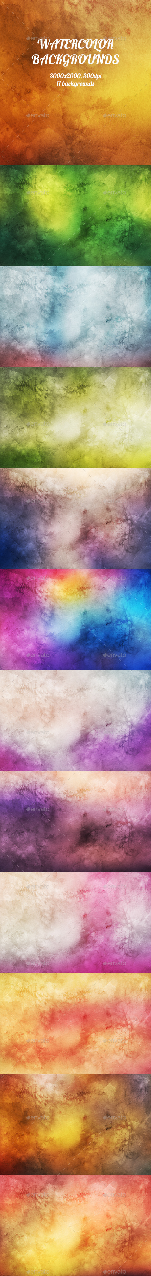 GraphicRiver Watercolor Backgrounds 8953286