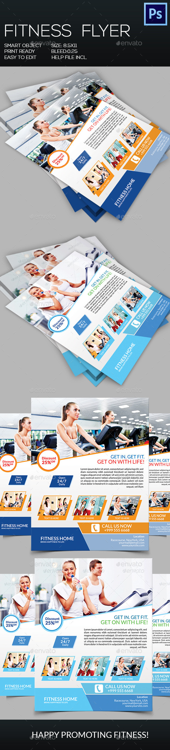 GraphicRiver Fitness Flyer 8953439
