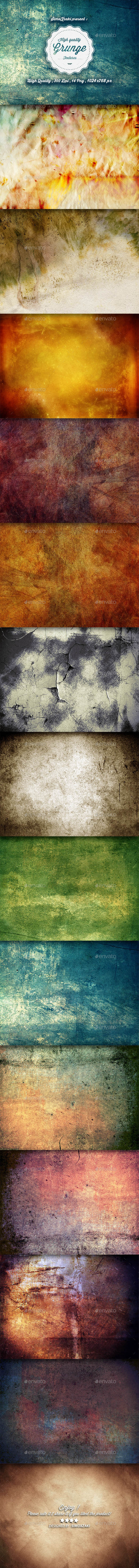 GraphicRiver High Quality Grunge Textures 8953448