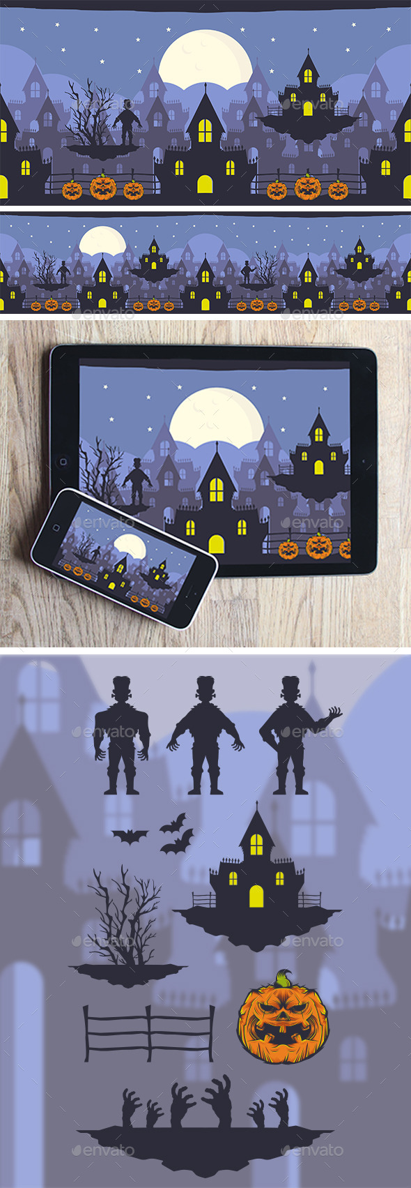 GraphicRiver Halloween Game Background 8953591