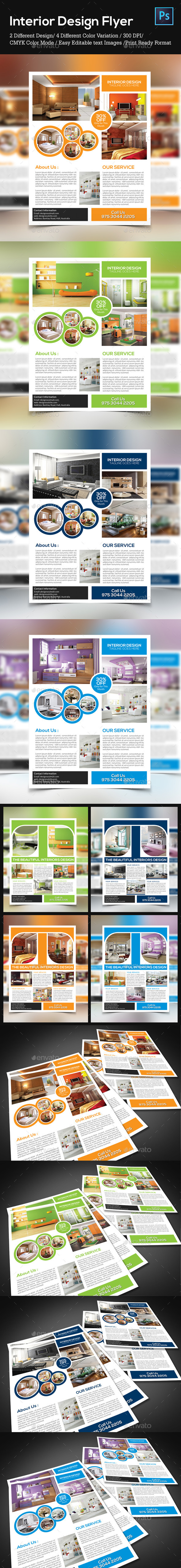 GraphicRiver Interior Flyer Templates 8953933