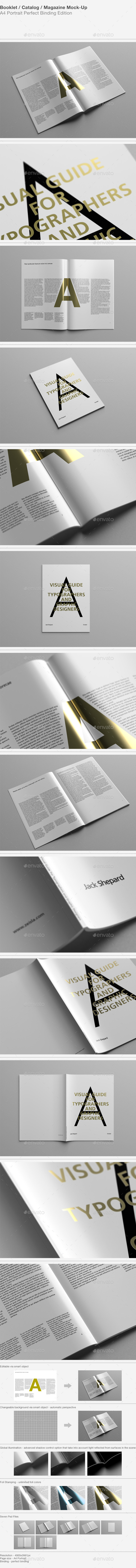 GraphicRiver Booklet Catalog Magazine Mock-Up 8954201