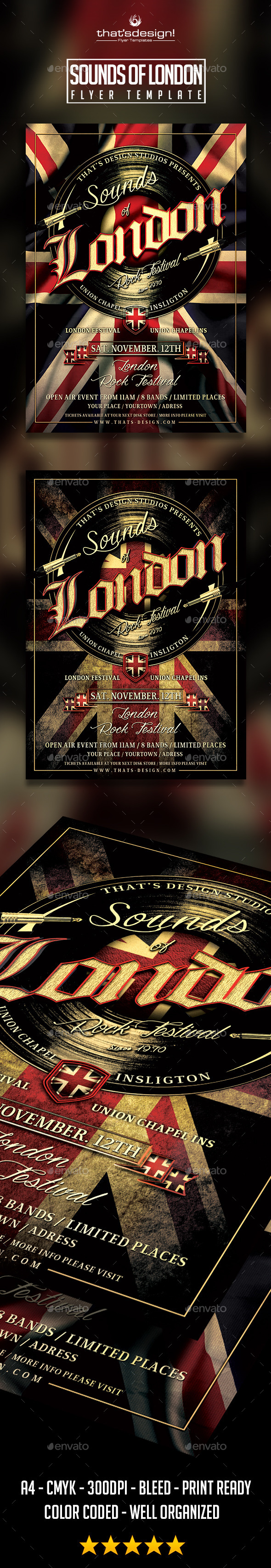 GraphicRiver Sounds of London Flyer Poster Template 8954256