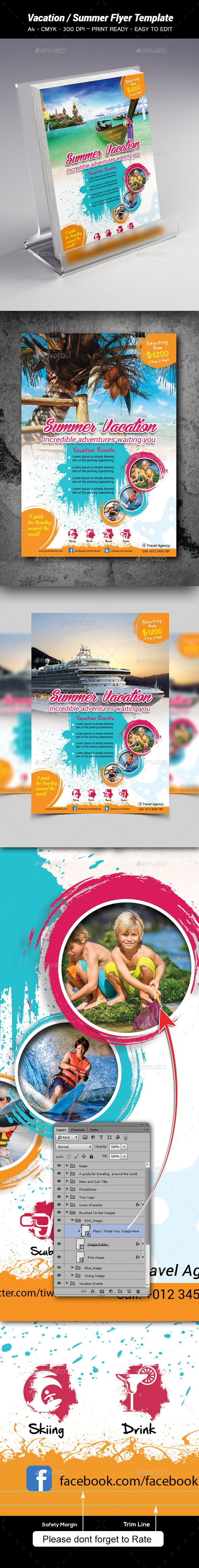 GraphicRiver Vacation Summer Flyer Template 8954340