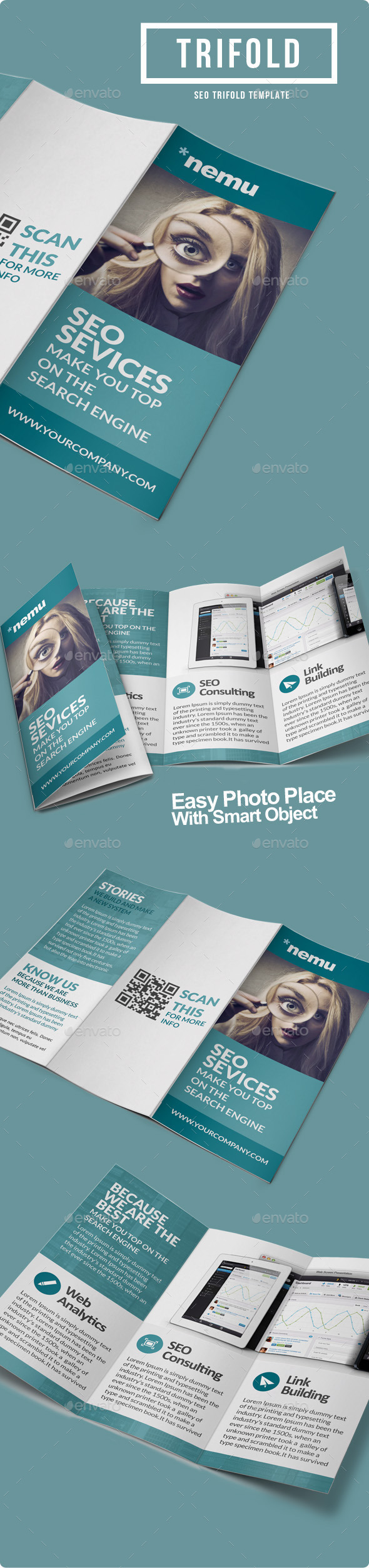 GraphicRiver SEO Marketing Trifold Brochure 8954397