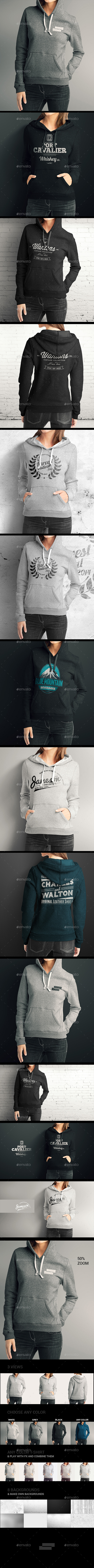 GraphicRiver Women Hoodie Mock up 8954428