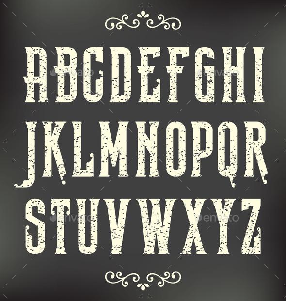 GraphicRiver Vintage Grunge Font 8954457
