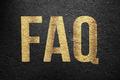 FAQ - Golden Text - PhotoDune Item for Sale