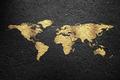 Golden World Map on a Asphalt - PhotoDune Item for Sale