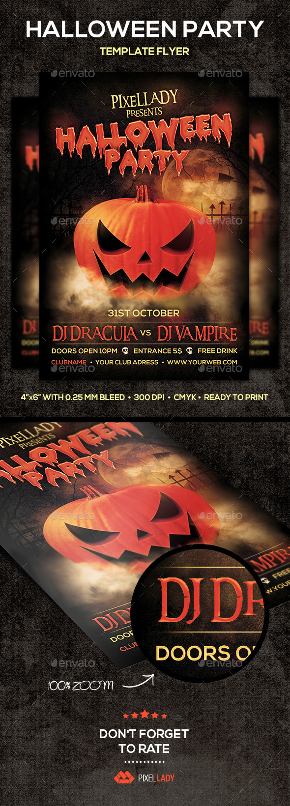 GraphicRiver Halloween Party Flyer 8954522
