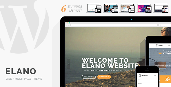 ThemeForest Elano Multi-Purpose One & Multi Page Wordpress Theme 8773615