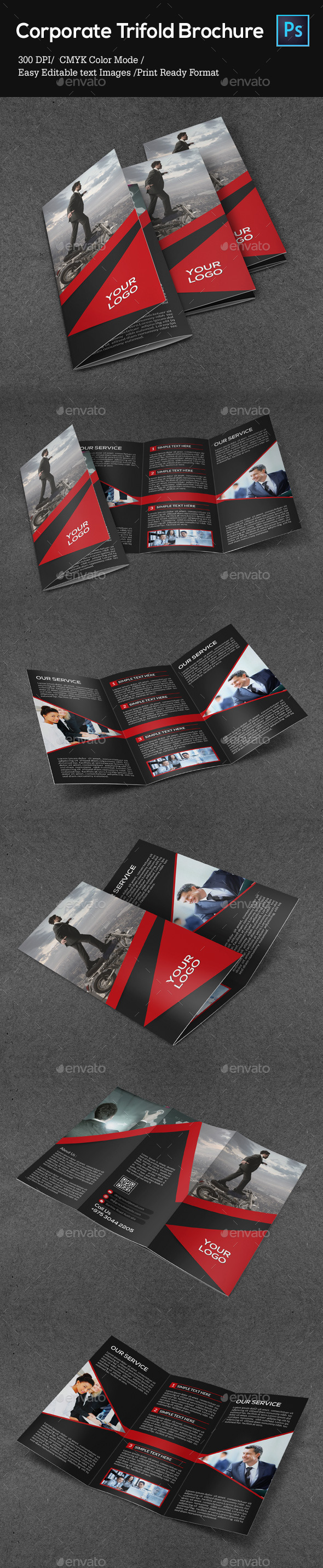 GraphicRiver Corporate Trifold Brochure 8954756