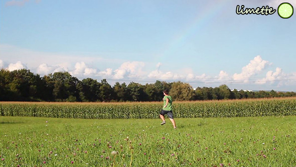 Running In Field