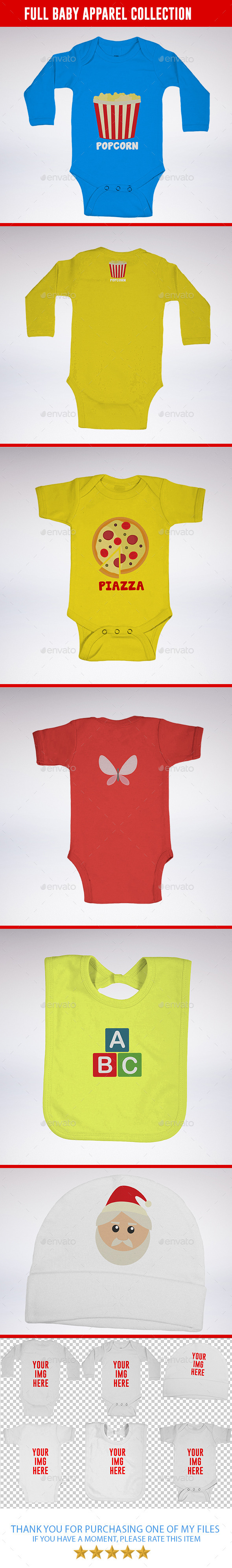 GraphicRiver Full Baby Apparel Collection 8954779