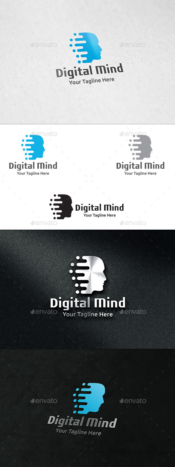 GraphicRiver Digital Mind Logo Template 8954983