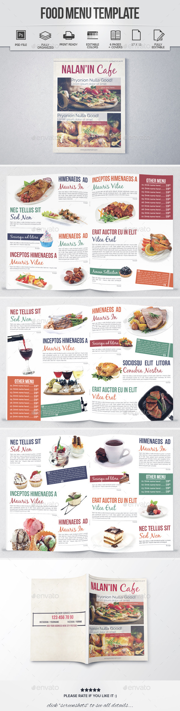 GraphicRiver Food Menu Template 8 Pages 8923538
