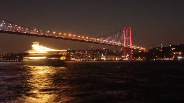 Bosphorus Bridge Day To Night 4