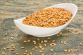 bowl of gold flax seeds - PhotoDune Item for Sale