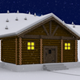 Winter Log Cabin - Door Open - VideoHive Item for Sale