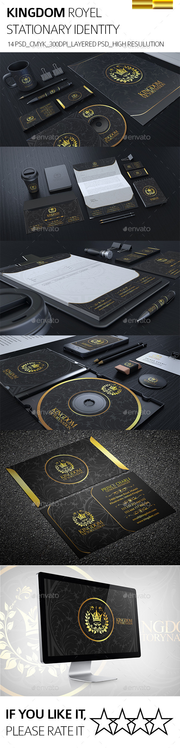 GraphicRiver Kingdom Statonary Identity 8955964