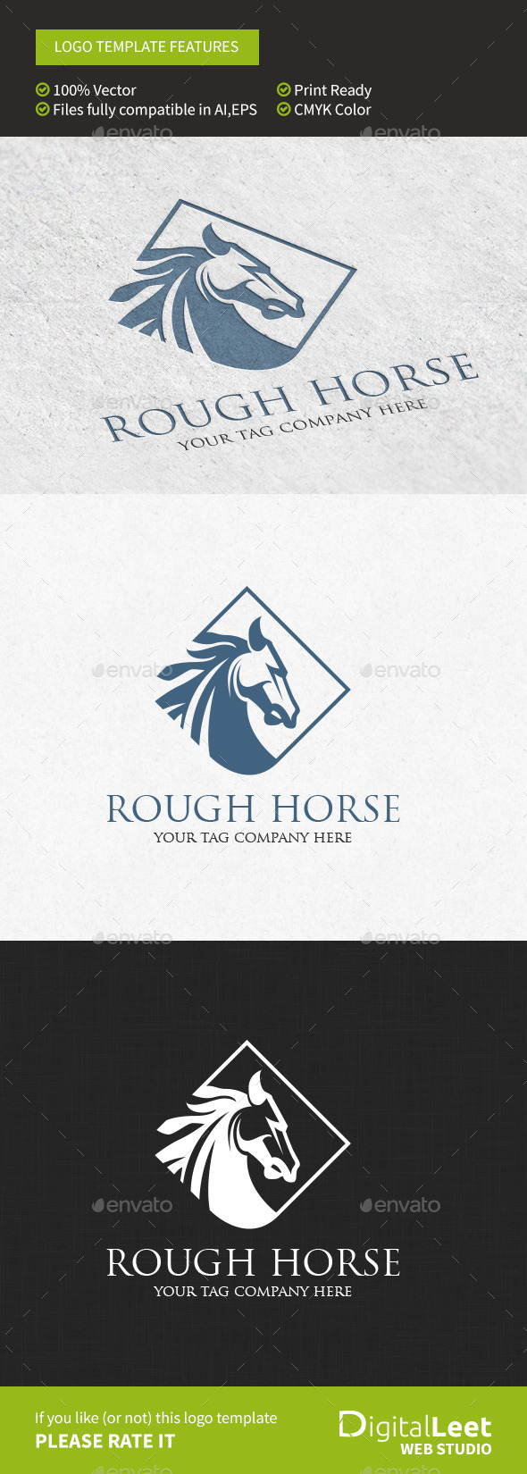 GraphicRiver Rough Horse Logo Template 8956109