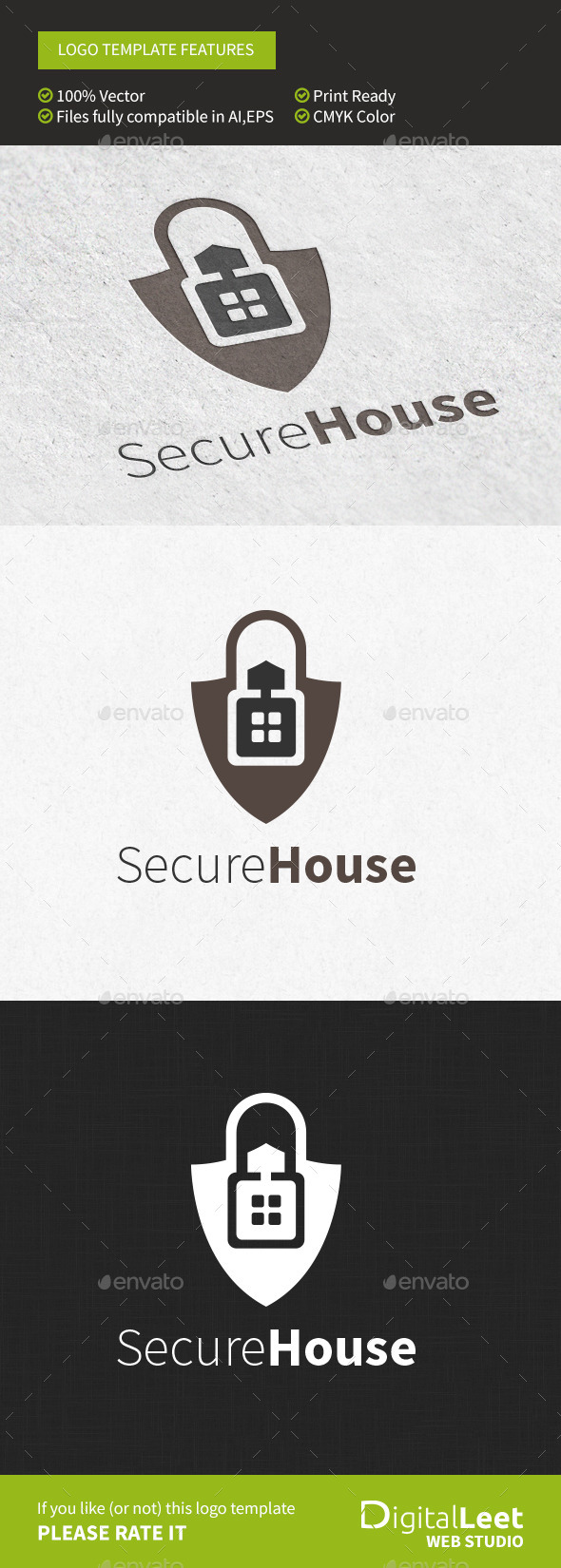 GraphicRiver Secure House Logo Template 8956114