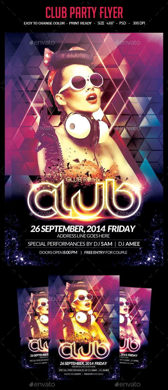 GraphicRiver Club Party Flyer 8956137