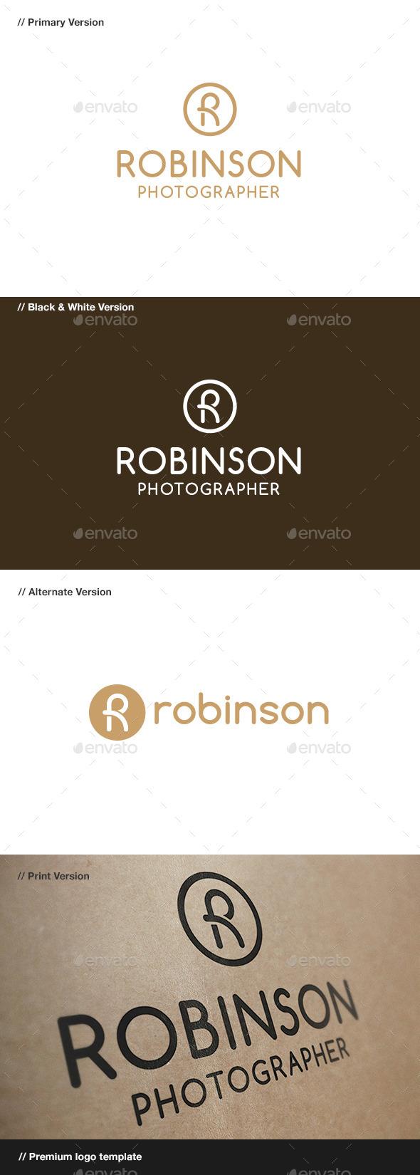 GraphicRiver Robinson R Letter Logo 8956152