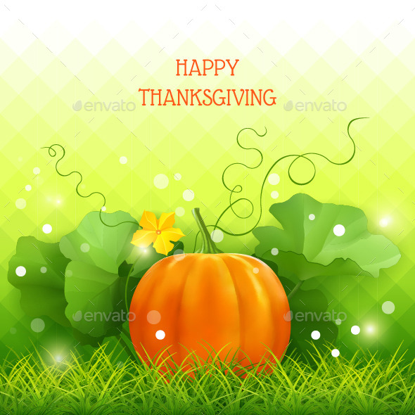 GraphicRiver Pumpkin Thanksgiving Card 8956163