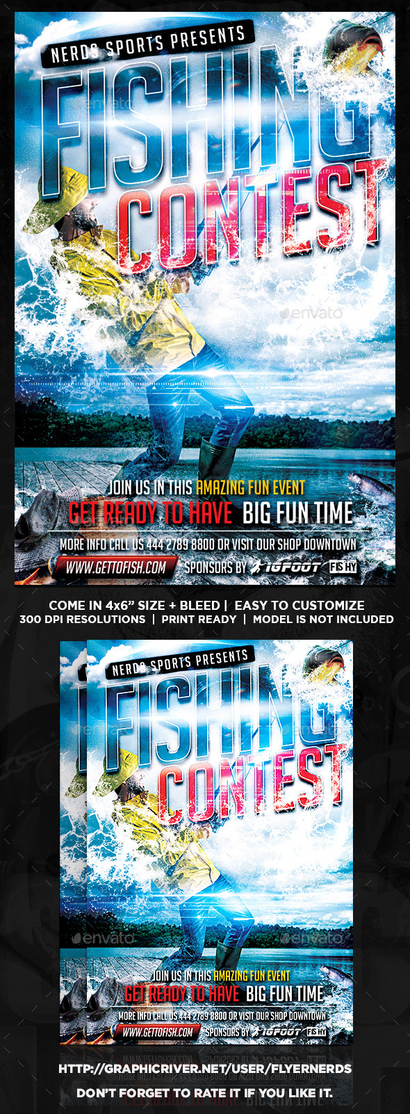 GraphicRiver Fishing Contest Flyer 8956611